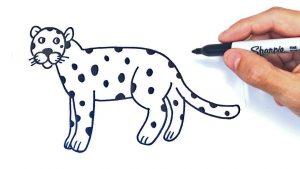 Dibuja Un Leopardo Fácil Paso a Paso