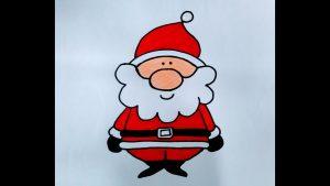 Cómo Dibujar Un Papa Noel Para Niños Paso a Paso Fácil