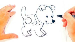 Cómo Dibuja Un Perro Sencillo Fácil Paso a Paso