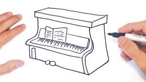 Dibujar Un Piano Fácil Paso a Paso