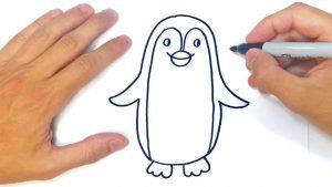 Cómo Dibuja Un Pingüino Paso a Paso Fácil