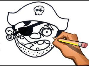 Cómo Dibujar Un Pirata Paso a Paso Fácil