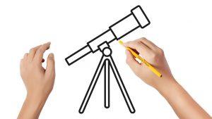 Dibuja Un Telescopio Fácil Paso a Paso