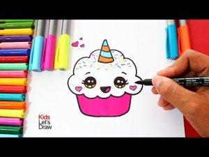 Cómo Dibuja Un Unicornio Cute Fácil Paso a Paso