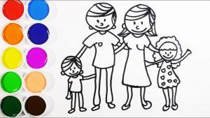 Cómo Dibujar Una Familia Fácil Paso a Paso