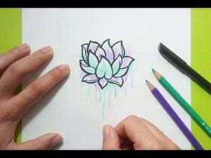 Cómo Dibuja Una Flor De Loto Paso a Paso Fácil