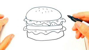Dibujar Una Hamburguesa Fácil Paso a Paso