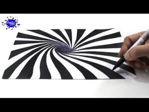Cómo Dibuja Una Ilusion Optica En 3D Paso a Paso Fácil