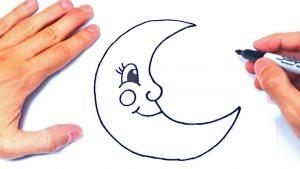 Cómo Dibujar Una Luna Paso a Paso Fácil