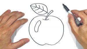 Cómo Dibujar Una Manzana Fácil Paso a Paso