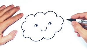 Dibuja Una Nube Paso a Paso Fácil