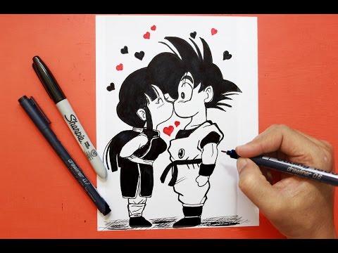 Dibuja Una Tarjeta Romántica De Dragon Ball Fácil Paso a Paso