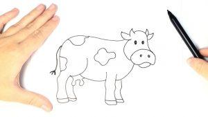 Cómo Dibujar Una Vaca Fácil Paso a Paso