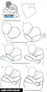 Dibujar 2 Personas Abrazándose Paso a Paso Fácil