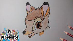 Dibuja A Bambi Fácil Paso a Paso