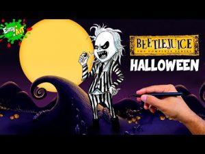 Cómo Dibuja A Beetlejuice Para Halloween Fácil Paso a Paso