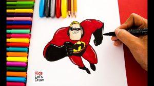 Dibujar A Bob De Los Increíbles Paso a Paso Fácil