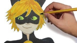 Dibujar A Cat Noir De Ladybug Fácil Paso a Paso