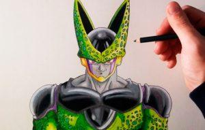 Cómo Dibuja A Cell De Dragon Ball Z Paso a Paso Fácil