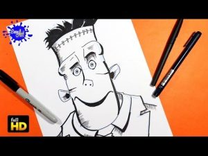Dibuja A Frankenstein De Hotel Transylvania Fácil Paso a Paso