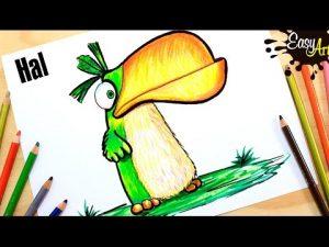Dibuja A Hal De Angry Birds Fácil Paso a Paso
