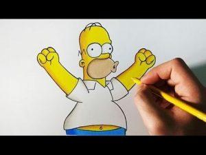 Cómo Dibuja A Homero Simpson Paso a Paso Fácil