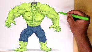 Dibuja A Hulk Paso a Paso Fácil