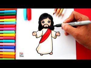 Cómo Dibuja A Jesus Paso a Paso Fácil