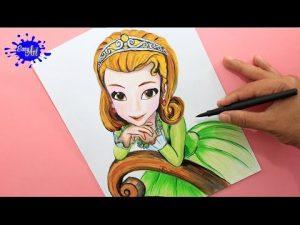 Cómo Dibujar A La Princesa Amber De Disney Junior Paso a Paso Fácil