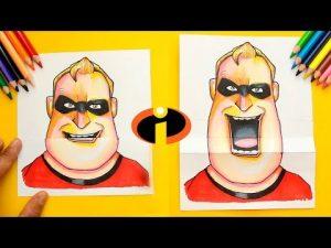 Dibujar A Mr Increible De Pixar Fácil Paso a Paso