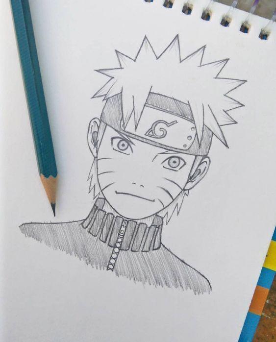 Cómo Dibujar A Naruto Shippuden A Lápiz Fácil Paso a Paso