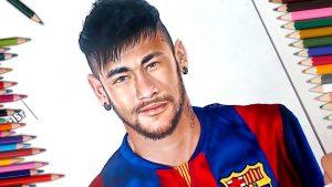Dibujar A Neymar Paso a Paso Fácil