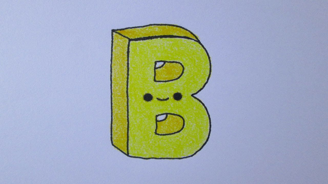 Dibujar A Partir De La Letra B Paso a Paso Fácil