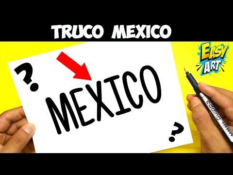 Cómo Dibuja A Partir De La Palabra México Paso a Paso Fácil