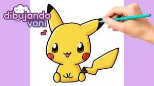 Cómo Dibujar A Pikachu Kawaii Paso a Paso Fácil