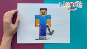 Cómo Dibujar A Steve De Minecraft Paso a Paso Fácil
