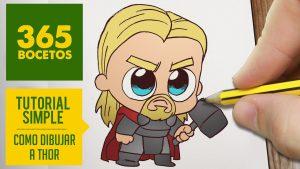 Dibuja A Thor Fácil Paso a Paso