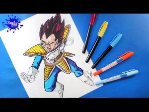 Dibujar A Vegeta De Dragon Ball Z Paso a Paso Fácil
