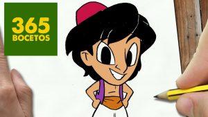 Cómo Dibuja Aladdin Paso a Paso Fácil