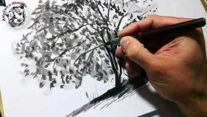 Cómo Dibuja Con Tinta China Fácil Paso a Paso