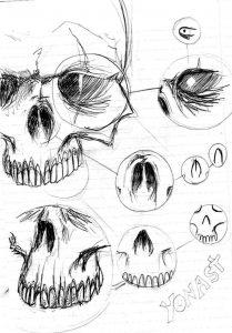 Dibujar Cráneos Paso a Paso Fácil