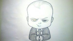 Cómo Dibujar El Bebé Jefazo Paso a Paso Fácil