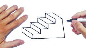 Cómo Dibuja Escaleras Fácil Paso a Paso