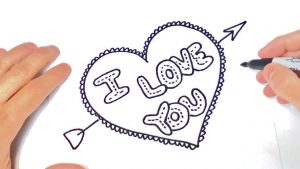 Cómo Dibuja I Love You Fácil Paso a Paso
