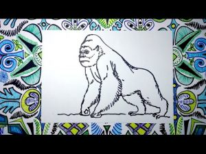 Cómo Dibuja King Kong Paso a Paso Fácil