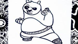 Cómo Dibujar Kung Fu Panda Fácil Paso a Paso