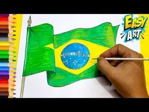 Dibuja La Bandera De Brasil Fácil Paso a Paso