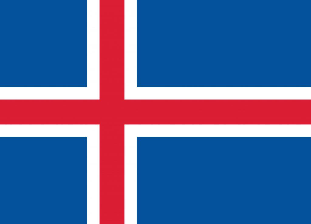 Dibuja La Bandera De Islandia Fácil Paso a Paso
