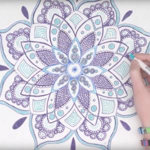 Cómo Dibujar Mandalas Paso a Paso Fácil