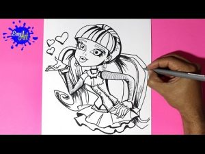 Cómo Dibuja Monster High Fácil Paso a Paso